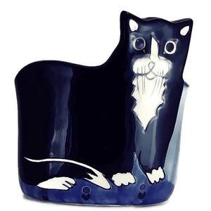 Vintage Andrea West Tuxedo Cat Planter